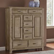 Bassett Furniture Armoire Maple Road Weathered Gray Sweater Chest Armoires Bedroom