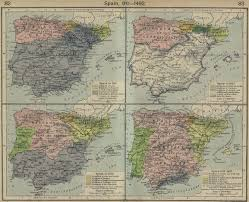 Historical Maps Map Of Spain 910 1492