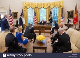 u s president donald trump participates in a briefing in the oval