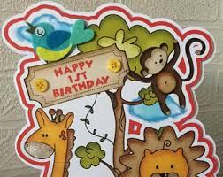 zoo birthday card etsy