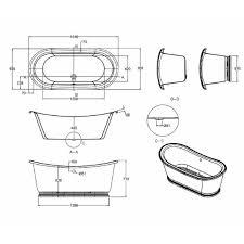 burlington admiral 1640mm freestanding bath