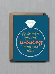 Funny Wedding Wishes Cards Funny Wedding Weirdos Greeting Card 1 By Blacklabstudio On Etsy