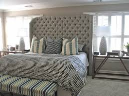 Full Size Upholstered Headboard by Bed Frame Diamond King Size Tufted Headboard In Grey For Bedroom