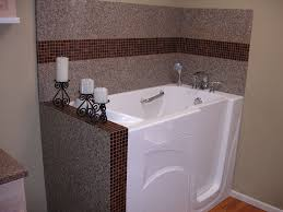 bathroom bathroom interior brown glass mosaic bathroom wall