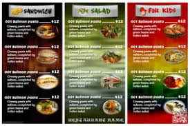 customizable menu templates customizable design templates for trifold postermywall