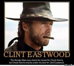 Chuck Norris Memes - why do people make chuck norris jokes but not clint eastwood