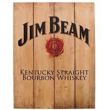 bourbon sign jim beam kentucky bourbon whiskey wood sign