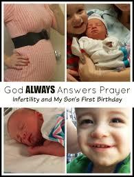 babys birthday god always answers prayer infertility and my s birthday