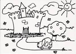dessin ã colorier magique chateau fort
