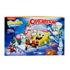 spongebob squarepants operation game toys