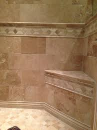 bathroom design and decoration using mount wall travertine tile