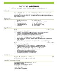 hair stylist resume exles hairstylist resume exle hair stylist cover letter by dwayne