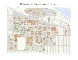 Map Of University Of Oregon by Condon Chapman Lawn Scheduling And Event Services