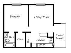 simple floor 36x36 two bedroom house plan 962 sq ft mostly small houses