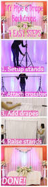 Wedding Backdrop And Stand Best 25 Pipe And Drape Ideas On Pinterest Reception Backdrop