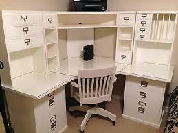 pottery barn desk with hutch pottery barn bedford corner desk hutch chair and acrylic desktop