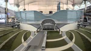 Denver International Airport Map New Light Rail At Denver International Airport Terminal Youtube