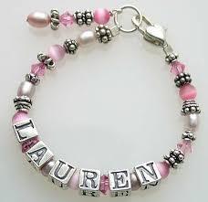 Name Bracelets Child U0027s Treasure And Gem Name Bracelet