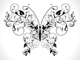 pics photos design black and grey abstract flower line