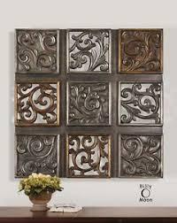 wall ideas design multi panels metal decorative wall