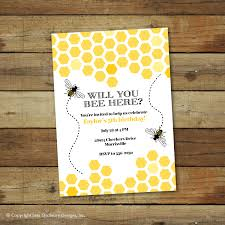 bumble 905bee birthday party invitation bee hive by