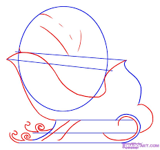 how to draw a sled step by step christmas stuff seasonal free