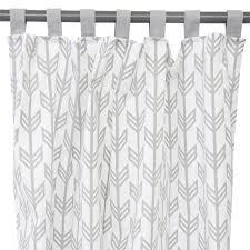 nursery curtain panels gray arrow caden lane