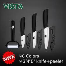ceramic kitchen knives set ceramic knife set 4 peeler midnight azure