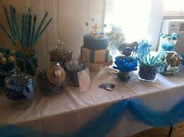 boys baptism candy bar baby blue candy bar dessert table