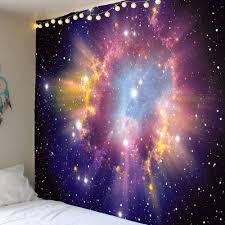 home decor tapestry shiny starry sky printed home decor tapestry colorful w inch l