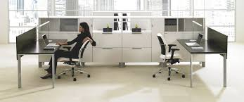 Teknion Reception Desk Workstation Desk Wooden Glass Contemporary District