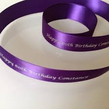 15mm satin ribbon printing any name theme wording personalised