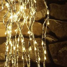led warm white cascade lights american sale