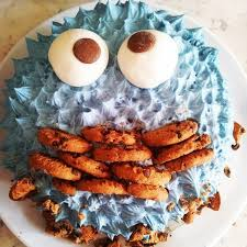 cookie monster birthday cake the great british bake off