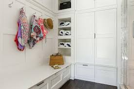 floating mudroom wall bench design ideas