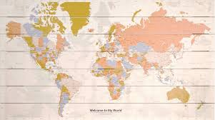 World Map Pins by Map Of The World Printed On Wood Style 100 Free Flags Or Pins