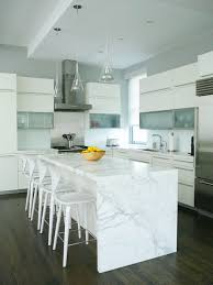 marble kitchen islands where to hide outlets with a waterfall island