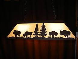 Rustic Pool Table Lights by Awesome Laser Cut Steel Buffalo Pool Table Light Lamp Rustic Hunt