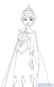 Queen Elsa Coloring Page Printable Frozen Pages Queen Elsa Princess Elsa Coloring Page Free Coloring Sheets