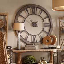 round metal wall clock office gameroom industrial warehouse style