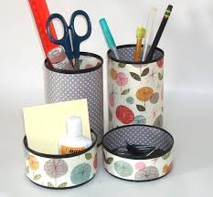 Floral Desk Accessories Whimsical Floral Desk Accessory Set Pencil Holder Pencil Cup