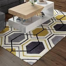 yellow rugs wayfair co uk