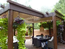 Patio Furniture Lighting Decor Tips Backyard Pergola With Pergola Covers For Patio Cover