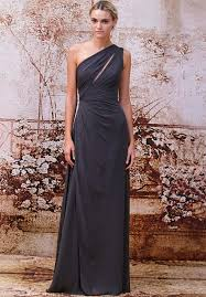 lhuillier bridesmaid dresses lhuillier charcoal dress that slit just a touch of