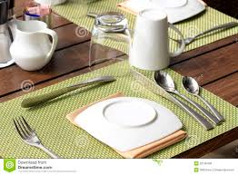 table setting for breakfast royalty free stock photos image