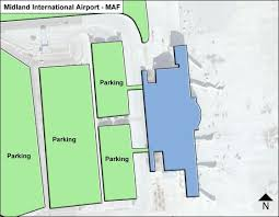 midland map midland maf airport terminal map