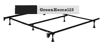 twin size 6 leg metal bed frame with headboard brackets greenhome123