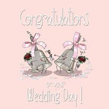 wedding day congratulations fax potato on your wedding day greetings card same
