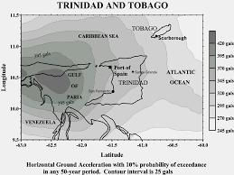 Map Of Trinidad Seismic Hazard Maps Trinidad And Tobago