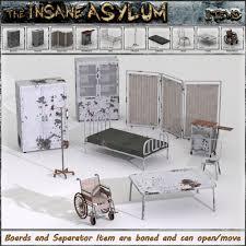 insane asylum 2 furniture and props 3d models 3 d c